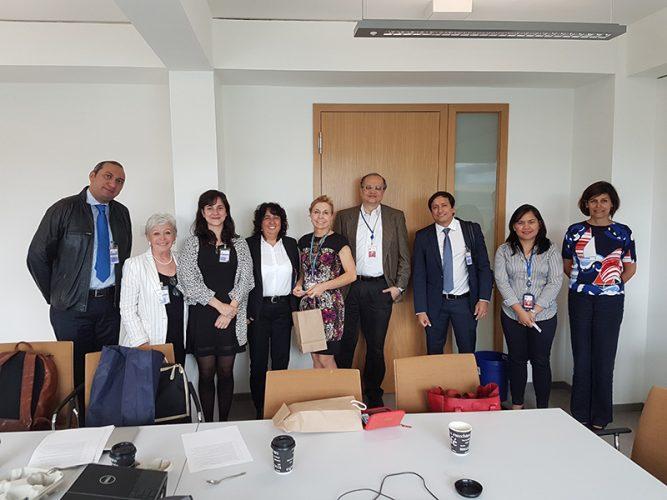 UN Climate Change Convention Secretariat con el director del Programa de Adaptación Sr. Youssef Nassef, Bonn 2017