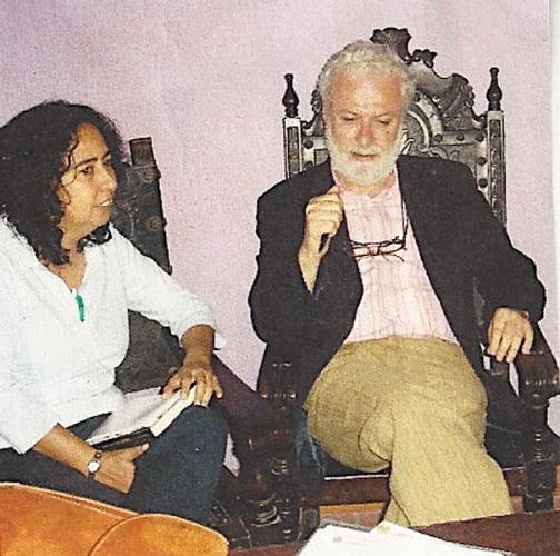 Con el pedagógo y caricaturista Francesco Tonucci, creador del Programa Mundial La Ciudad de los Niños