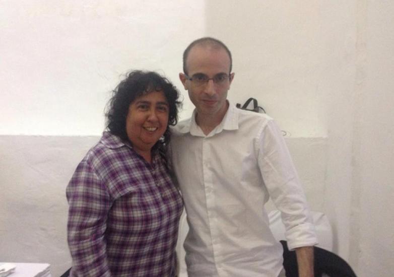 Con el gran historiador y escritor, Yuval Harari