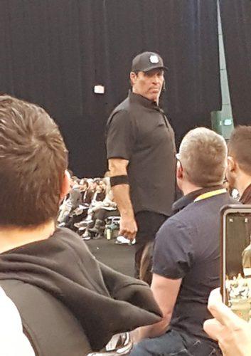 En formación con Tony Robbins en Los Ángeles